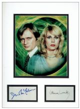 Sapphire & Steel Autograph Signed Display - Lumley & McCallum